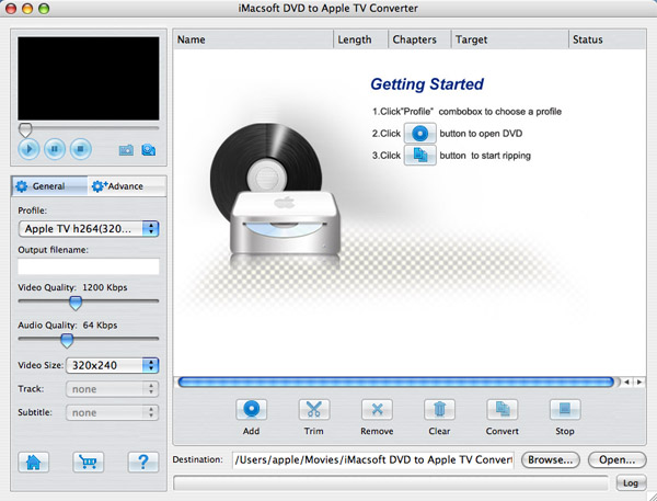 iMacsoft VOB to Apple TV Converter for Mac