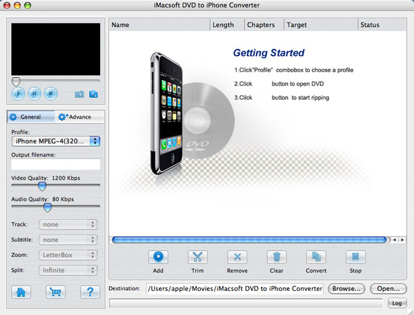 iMacsoft VOB to iPhone Converter for Mac