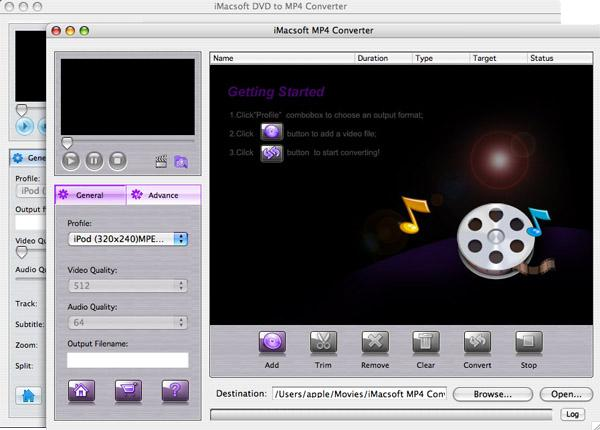 iMacsoft VOB to MP4 Suite for Mac
