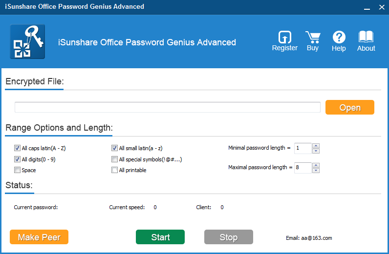 iSunshare Office Password Genius Advanced