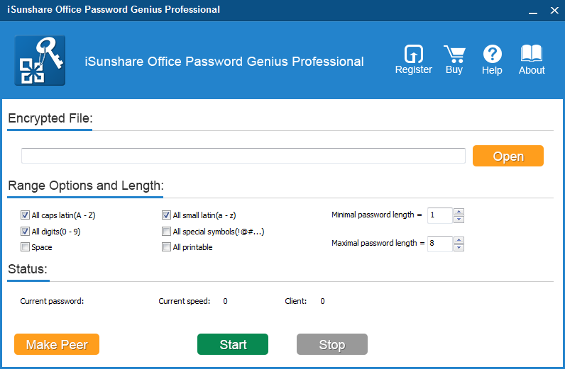 iSunshare Office Password Genius Professional