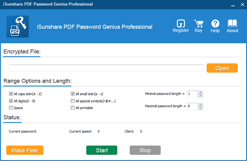 iSunshare PDF Password Genius Professional