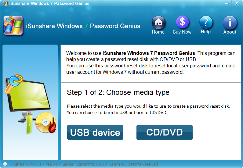 iSunshare Windows 7 Password Genius
