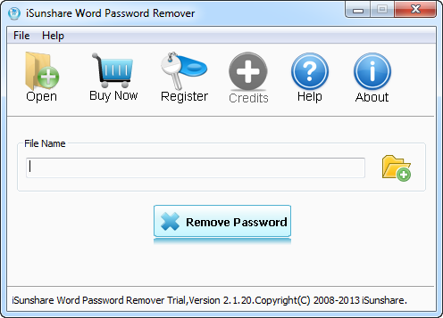 iSunshare Word Password Remover