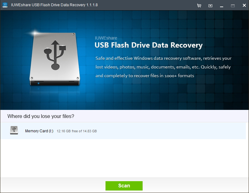 IUWEshare USB Flash Drive Data Recovery