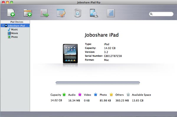 Joboshare iPad Rip for Mac