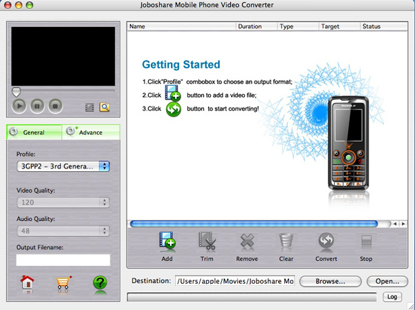 Joboshare Mobile Phone Video Converter for Mac