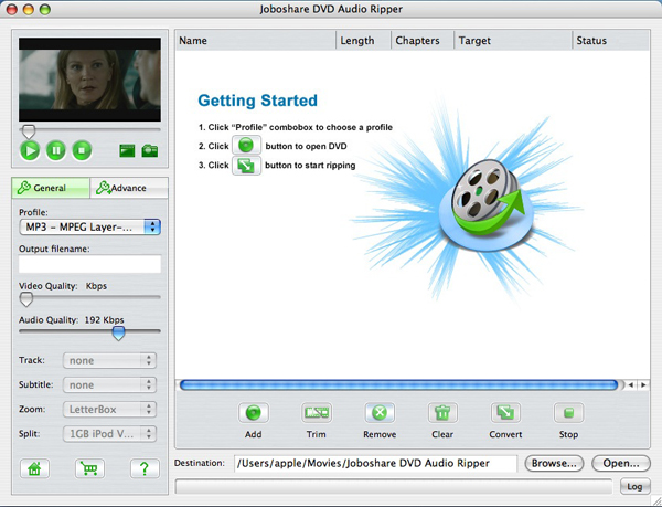Joboshare VOB Audio Converter for Mac