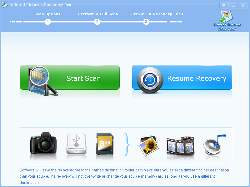 Deleted Pictures Recovery Professional