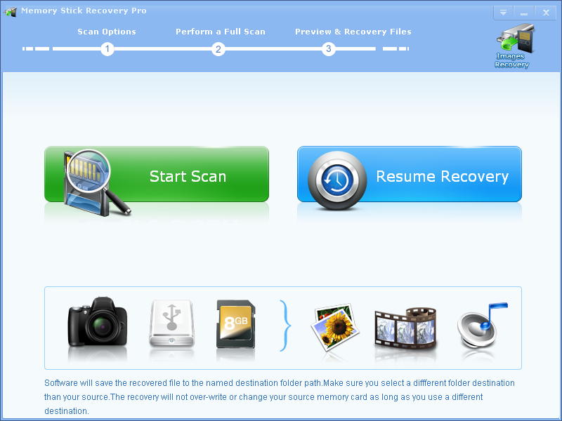 Memory Stick Recovery Professional
