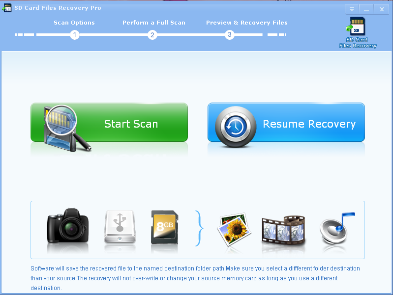 SD Card Files Recovery Professional