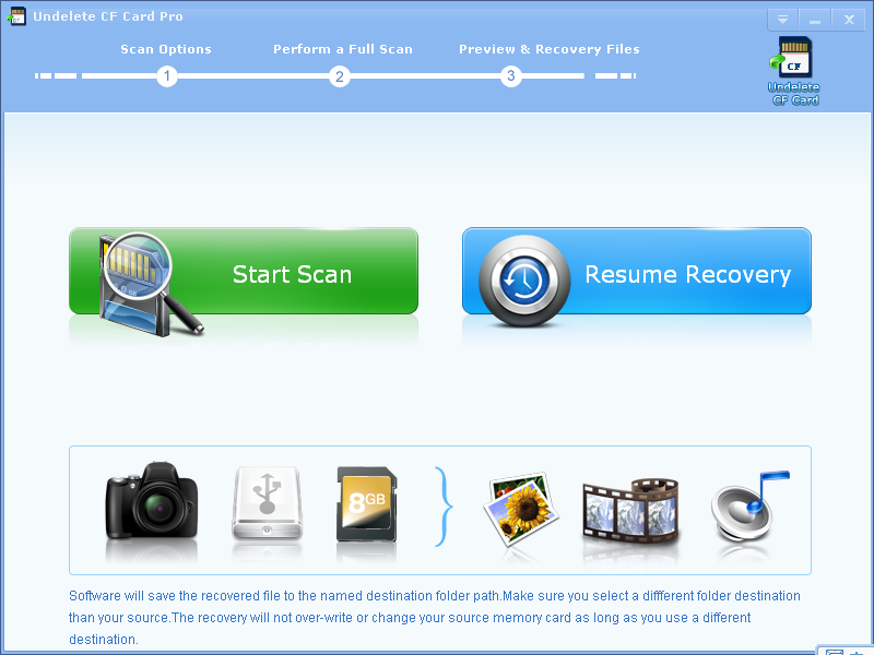Undelete CF Card Recovery Professional