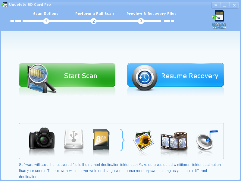 Undelete SD Card Recovery Professional