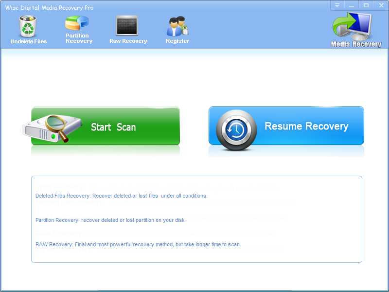 Wise Digital Media Recovery Pro