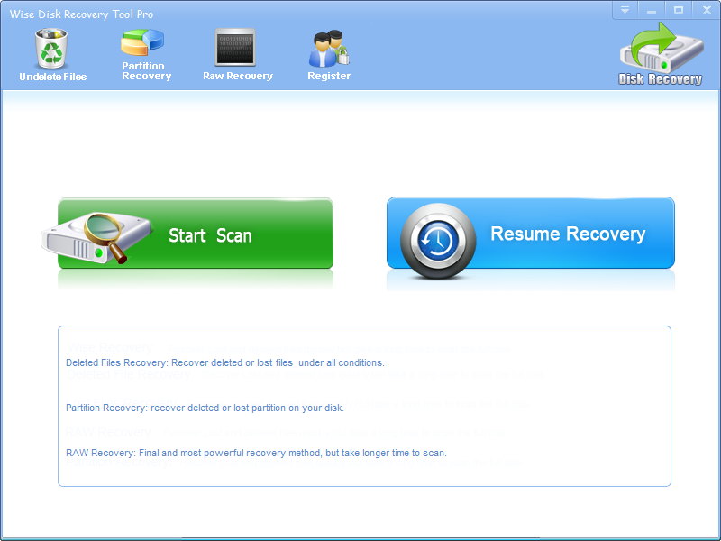 Wise Disk Recovery Tool Pro