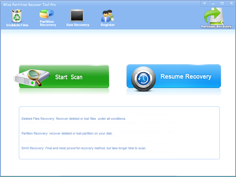 Wise Partition Recover Tool Pro