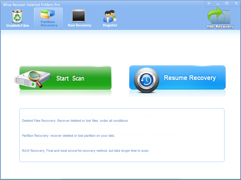 Wise Recover Deleted Folders Pro