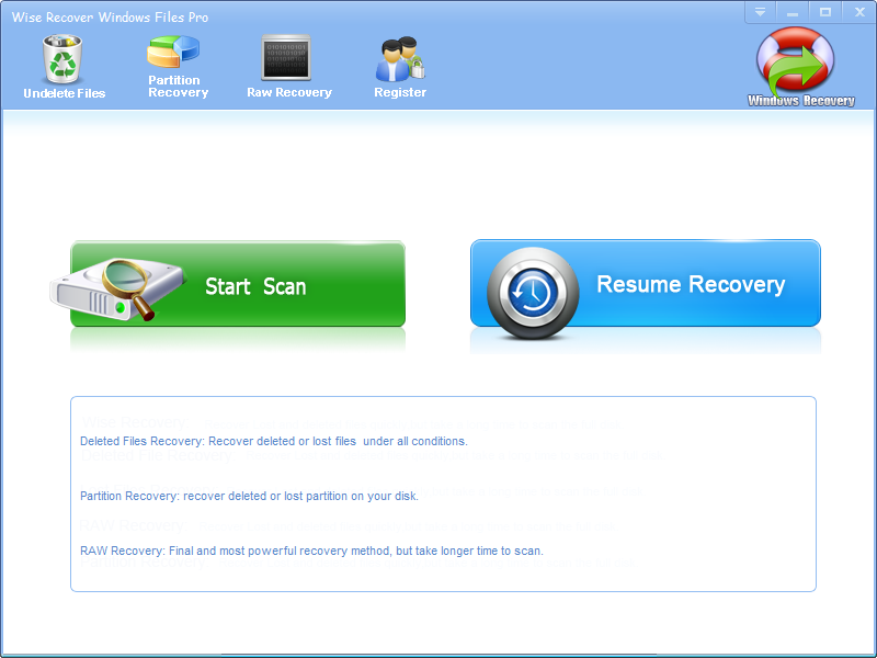 Wise Recover Windows Files Pro