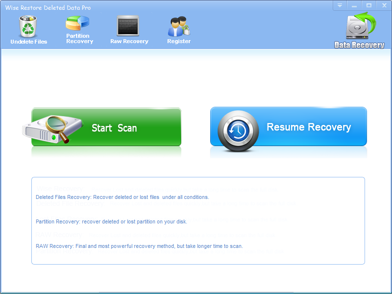 Wise Restore Deleted Data Pro