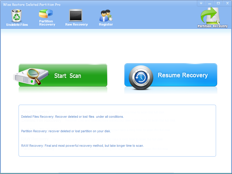 Wise Restore Deleted Partition Pro