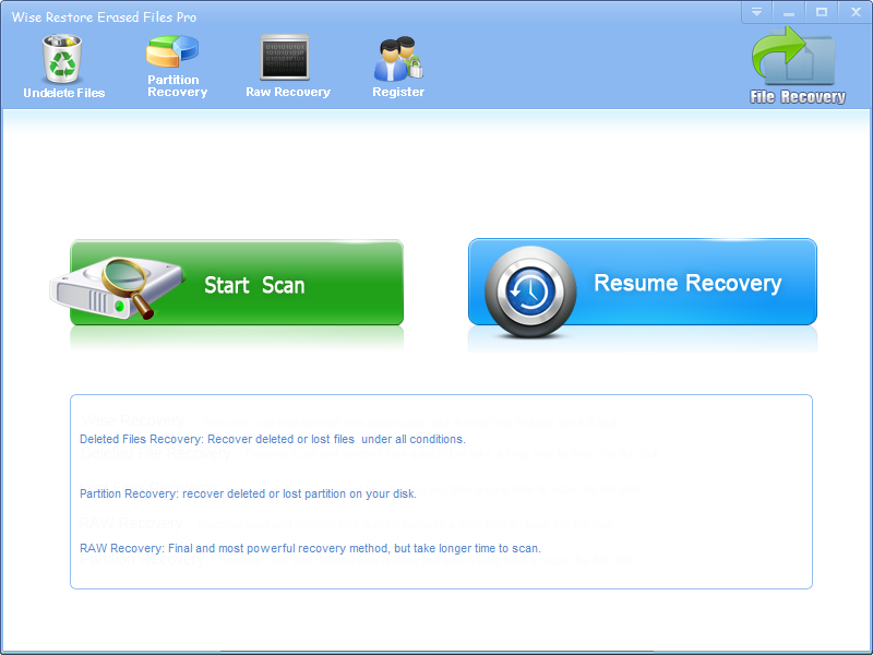 Wise Restore Erased Files Pro