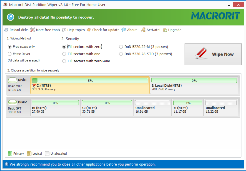 Macrorit? Data Wiper Pro for Home Users