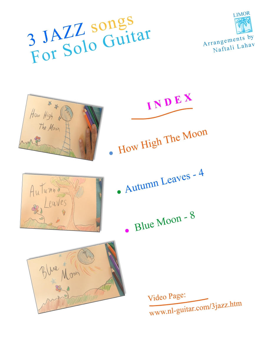 3 Jazz songs for Solo Guitar - Hard Copy