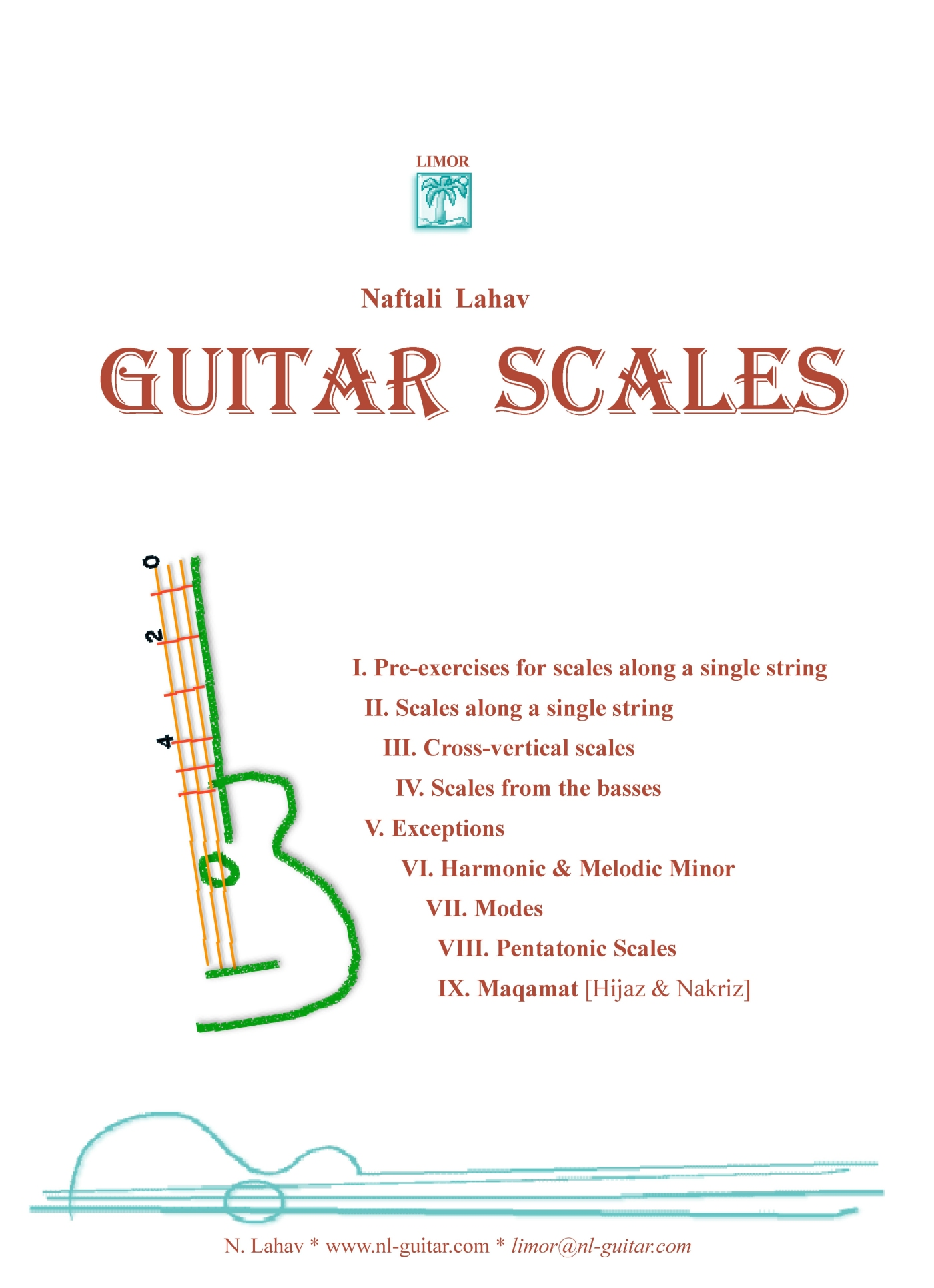 Lahav's Guitar Scales - Hard Copy