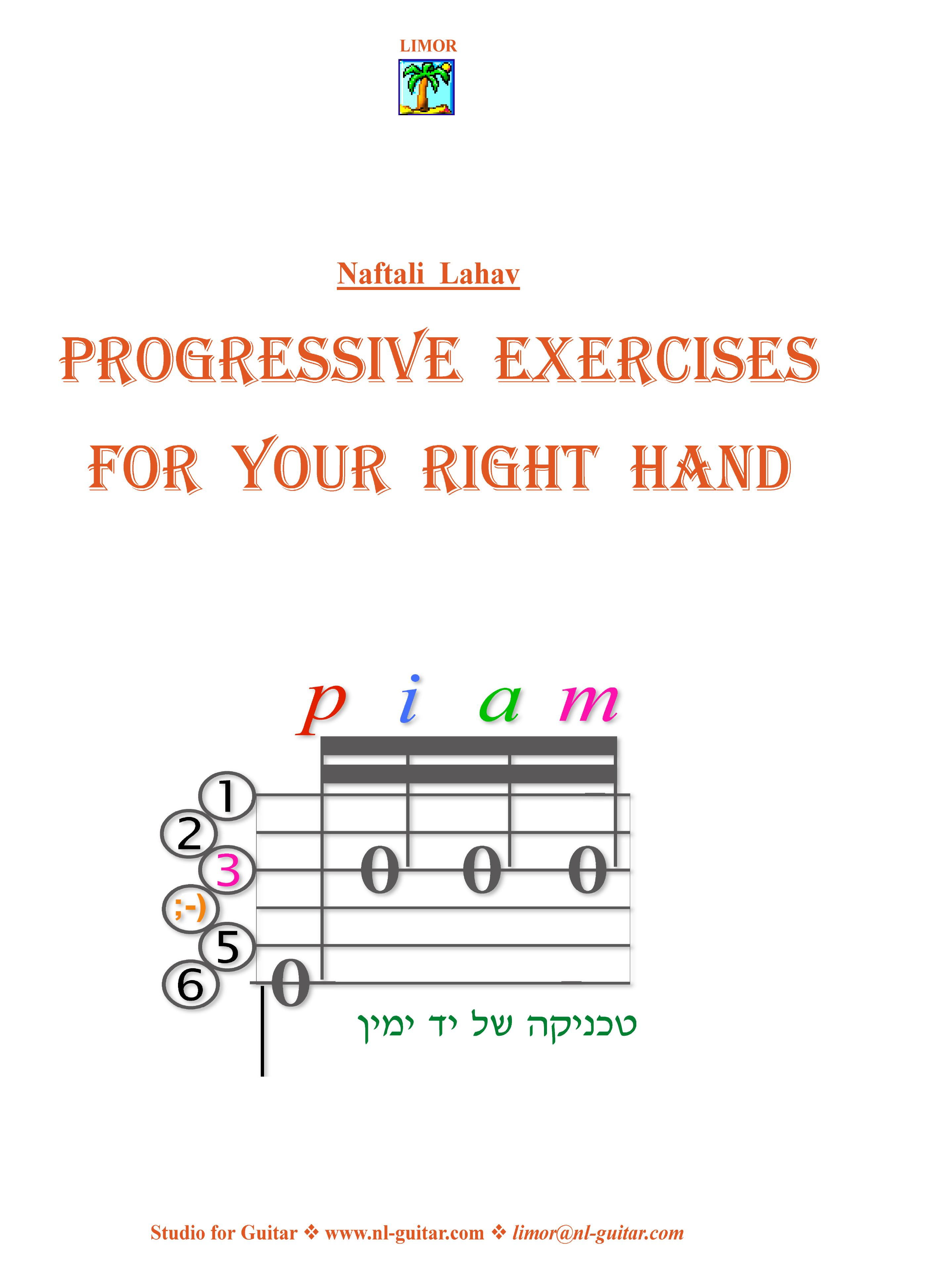 Progressive Exercises for your Right Hand - Hard Copy