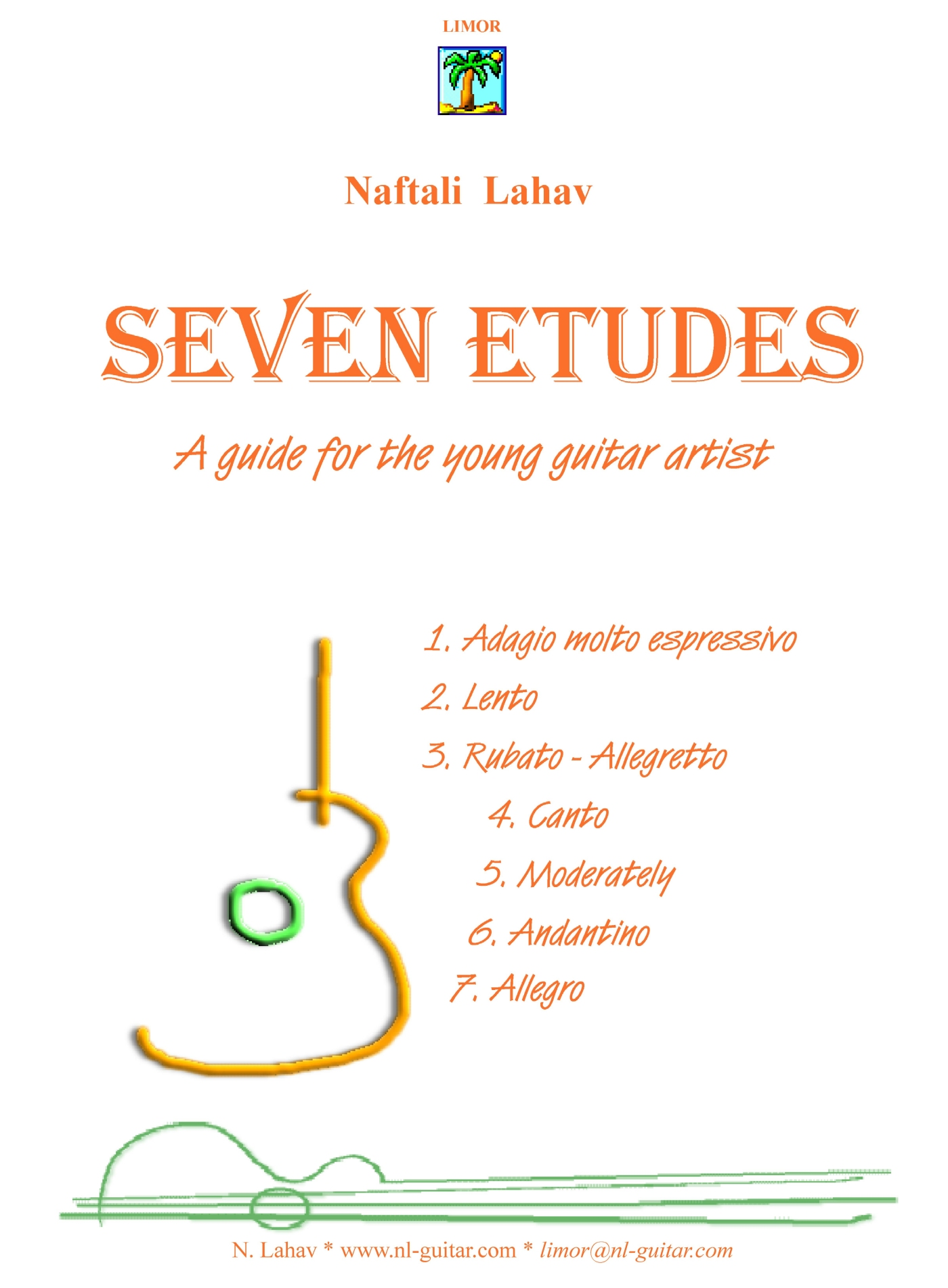 Seven Etudes - A guide for the young guitar artist - PDF