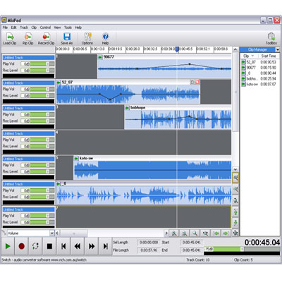 MixPad Multitrack Audio Recording and Mixing
