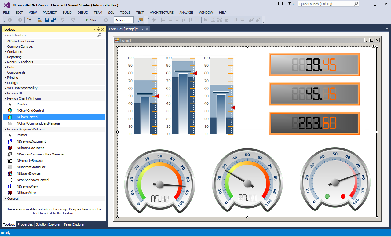 Nevron Gauge for SQL Server Reporting Services 2014.1