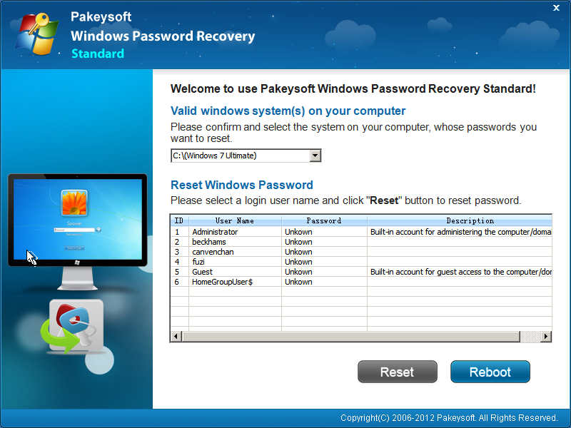 Windows Password Recovery for Mac Platinum