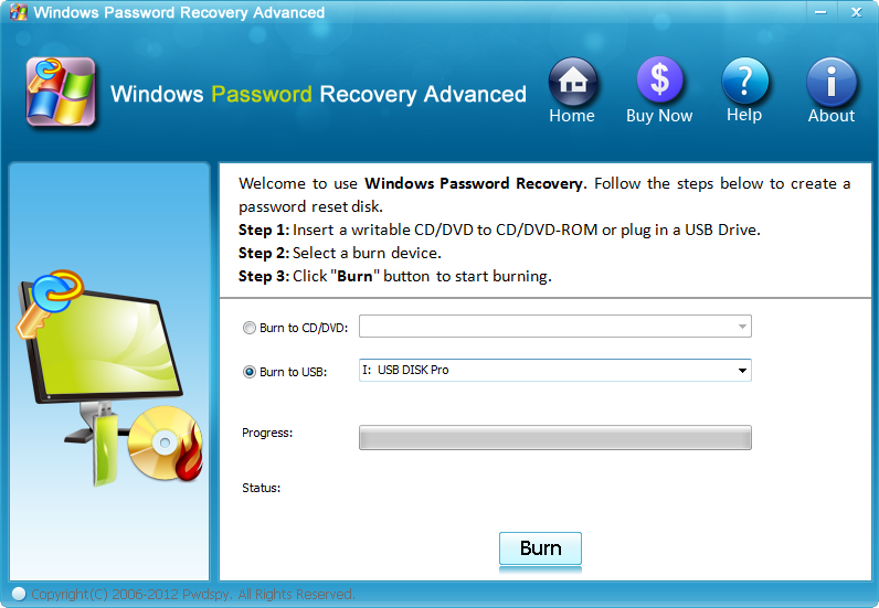 Windows Password Recovery Advanced