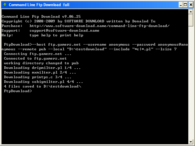 Command Line Ftp Download
