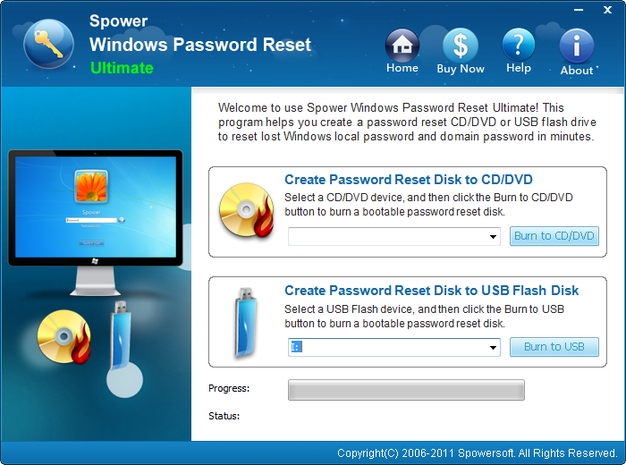 Spower Windows Password Reset Ultimate - for 10 PCs