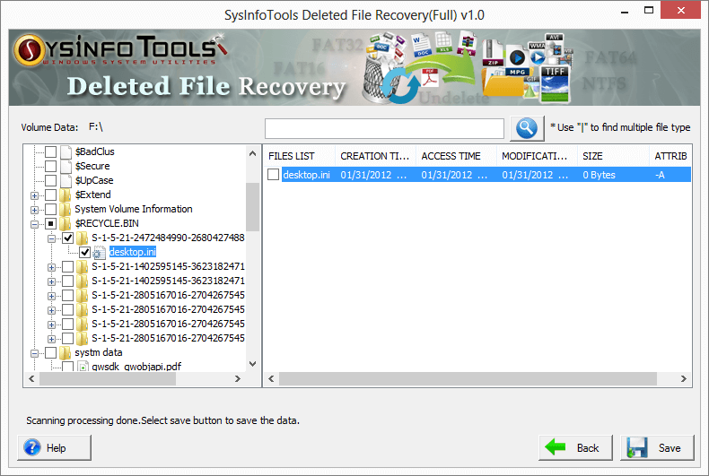 SysInfoTools Deleted File Recovery