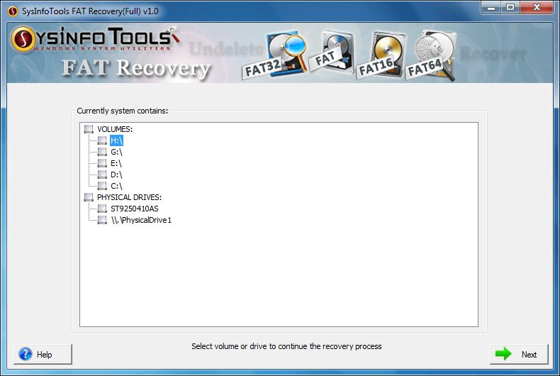 SysInfoTools FAT Recovery