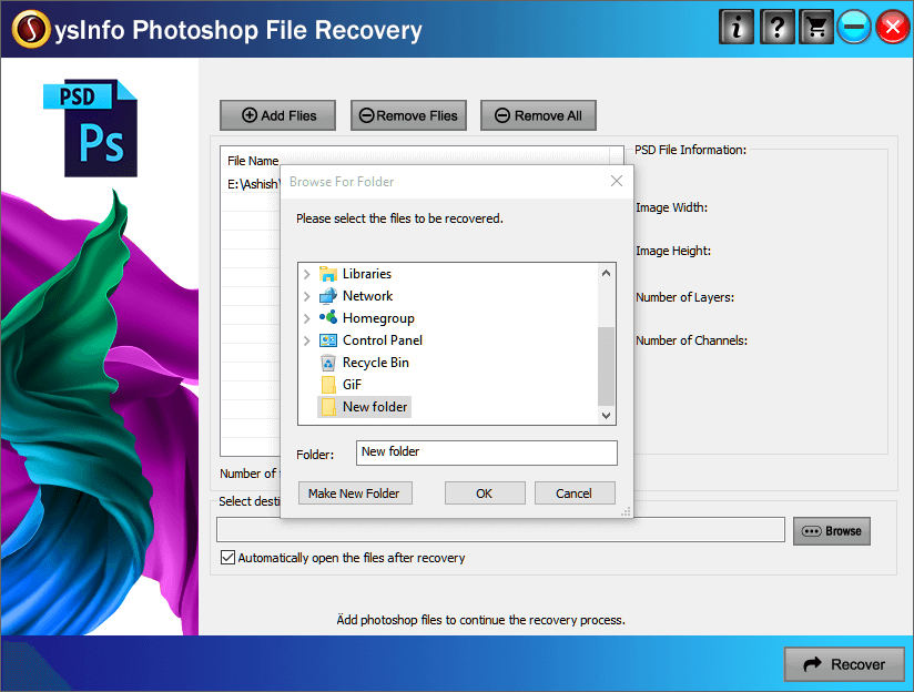 SysInfoTools Photoshop Recovery