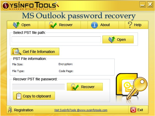 SysInfoTools PST Password Recovery
