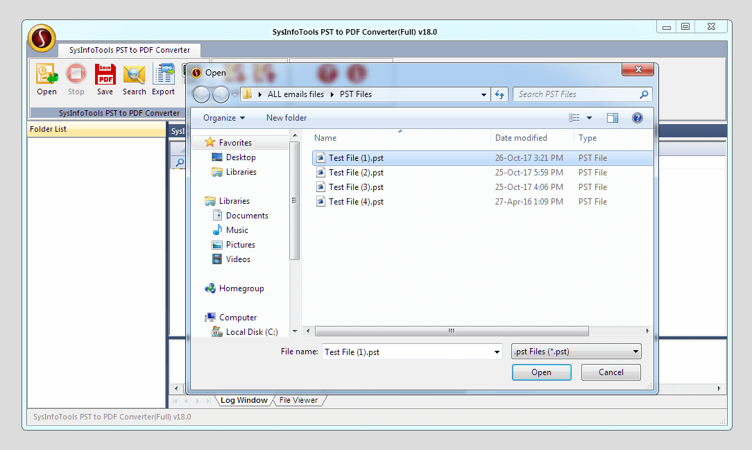 SysInfoTools PST to PDF Converter
