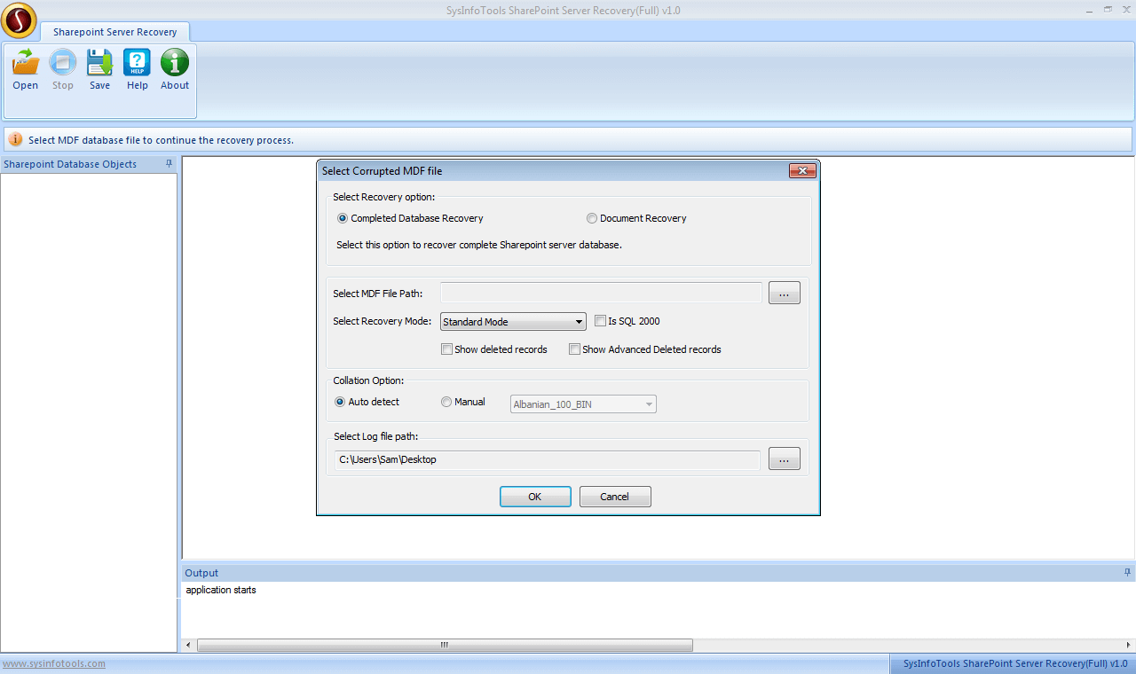 SysInfoTools SharePoint Server Recovery