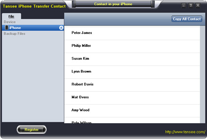 Tansee iOS Contact Transfer (Windows) 1 year License