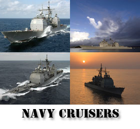 Navy Ships - Cruisers Screen Saver