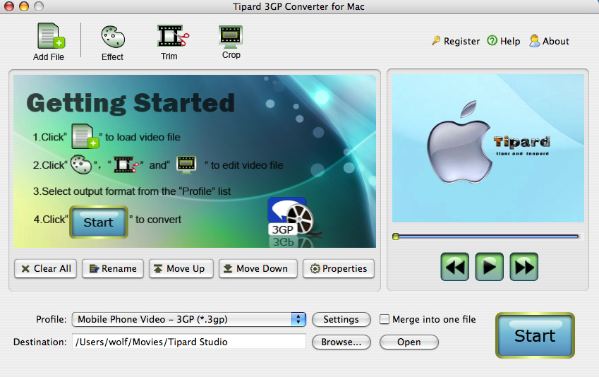 Tipard 3GP Converter for Mac