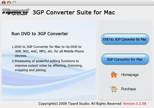 Tipard 3GP Converter Suite for Mac