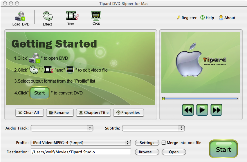 Tipard DVD Ripper for Mac Lifetime License