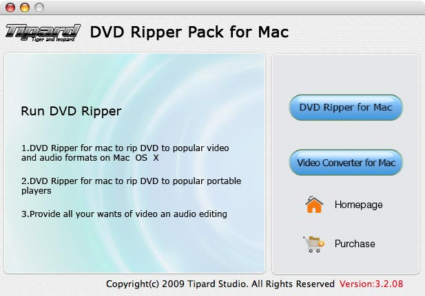 Tipard DVD Ripper Pack for Mac Lifetime License