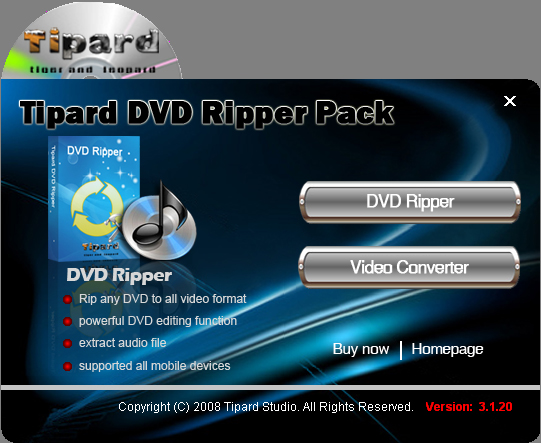 Tipard DVD Ripper Pack Lifetime License