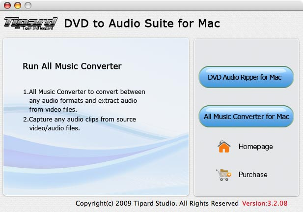 Tipard DVD to Audio Suite for Mac